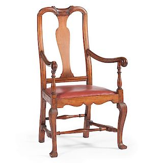 Queen Anne Open Armchair