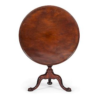 Philadelphia Chippendale Tilt Top Tea Table with Claw and Ball Feet