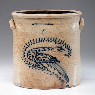 <i>N. A. White & Co.</i> Six-Gallon Stoneware Crock