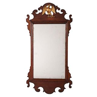 Chippendale Mirror with Molded Eagle