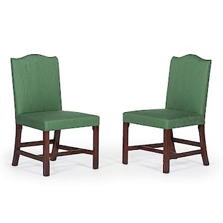 A Fine and Rare Pair of Philadelphia Chippendale Back Stools