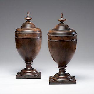 Georgian Urn-Form Knife Boxes