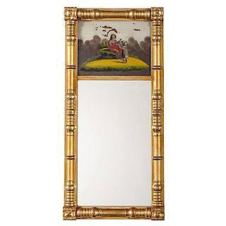 Federal Gilt Reverse Painted Mirror