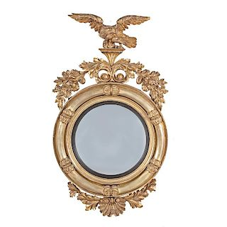 Classical Convex Gilt Mirror with Eagle