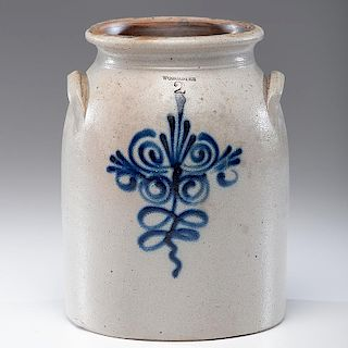 Massachusetts Two-Gallon Stoneware Crock
