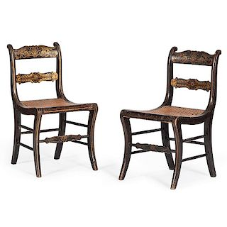 Stenciled Side Chairs