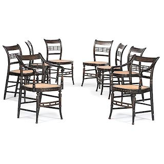 New York Painted Fancy Chairs, Signed Ruth Hicks