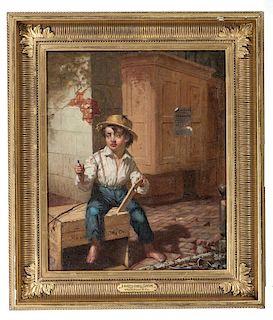 Joseph Oriel Eaton, Portrait of Street Urchin Titled <i>Flash, Cash & Co.</i>