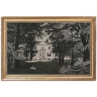 Sandpaper Drawing of Henry Clay's Ashland Plantation