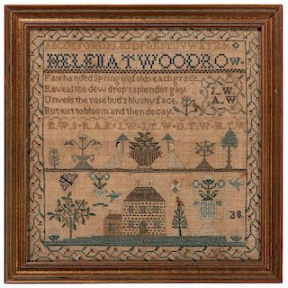 Ohio Pictorial and Poem Sampler by Helena T. Woodrow