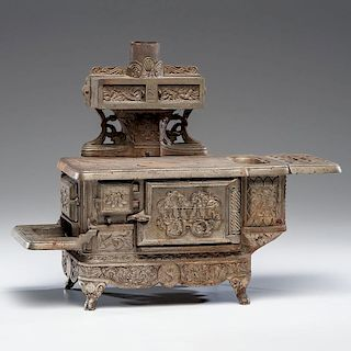 """""""Rival"""" Cast Iron Toy Stove"""