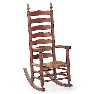 Chester Cornett Folk Art Rocking Chair