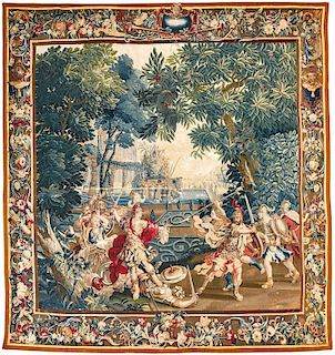 A FLEMISH MYTHOLOGICAL TAPESTRY, FROM THE WORKSHOP OF JACOB VAN DER GOTEN, LATE 17TH CENTURY