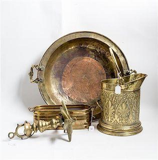 Three Brass Vessels