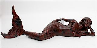 A Cast Iron Figure Length 25 inches.