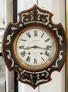 A French Wall Clock Length 20 3/4 inches.