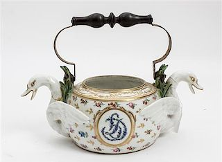 * A Continental Ceramic Jardiniere Width over handles 11 3/4 inches.