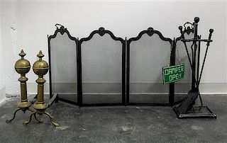 * An Assortment of Fireplace Accessories Height of tallest 33 inches.