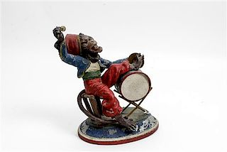 * A Continental Cold Painted Cast Metal Figure Height 10 inches.