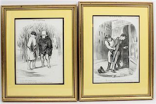* Two French Engravings 11 1/4 x 8 1/2 inches.