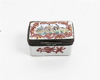 * A Limoges Enameled Pill Box