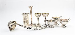 * Ten American and Mexican Silver Articles Height of tallest 7 1/8 inches.