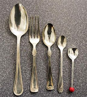 * A Collection of American Silver-Plate Table Articles, , comprising a set of six Reed and Barton tablespoons, a collection o