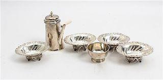 * A Set of Four Victorian Silver Salt Cellars