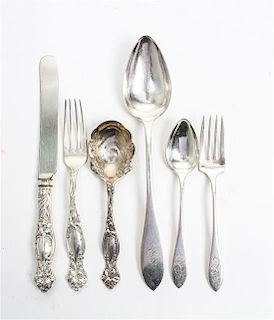 * A Partial American Silver Flatware Service, Towle Length of first 7 3/4 inches.
