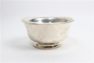 * An American Silver Revere Bowl, Mermod, Jaccard & King, 20TH CENTURY, model 0938, of footed form.