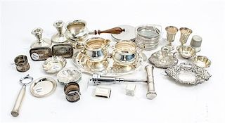 A Collection of Silver Table Articles, various countries and makers, comprising a set of twelve shell-form nut dishes, a F.B.