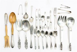 A Collection of Silver Flatware Articles, various makers, comprising a set of 10 teaspoons, an assortment of 'Royal Danish' f