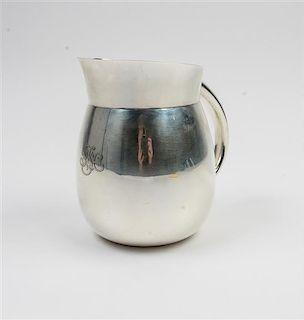 * An American Silver Vase, Tiffany & Co., New York, NY, having a central monogram