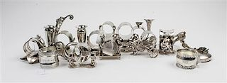 A Collection of Silver and Silver-Plate Napkin Rings