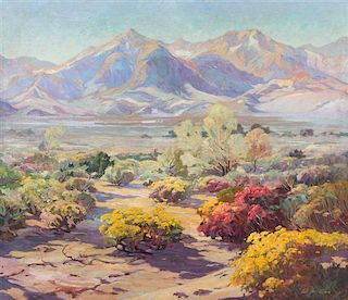 Carl Hoerman, (American, 1885-1955), Spell of the Desert, Mojave Desert, California