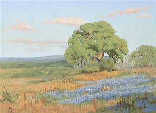 Noe Perez, (American, b. 1958), Meadow with Blue Flowers, 1986