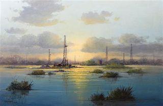 Gerald Harvey Jones, (American, b. 1933), Oil Rigs