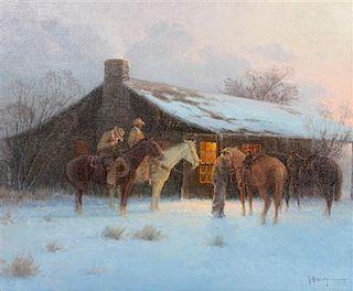 Gerald Harvey Jones, (American, b. 1933), Saddled by Sunrise, 1972