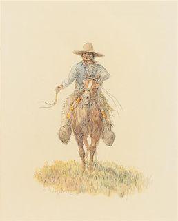 Olaf Wieghorst, (Danish/American, 1899-1988), Indian Trails