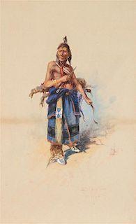 Edgar Samuel Paxson, (American, 1852-1919), The Arrow Crow-Warrior
