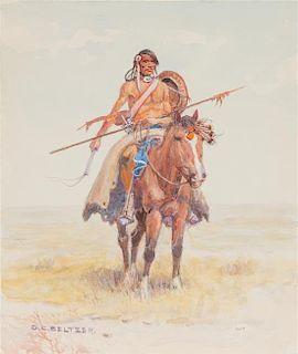 Olaf Carl Seltzer, (American, 1877-1957), Indian Brave
