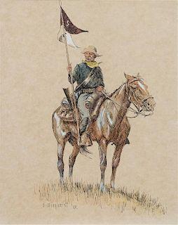 Olaf Wieghorst, (Danish/American, 1899-1988), Cavalry Man