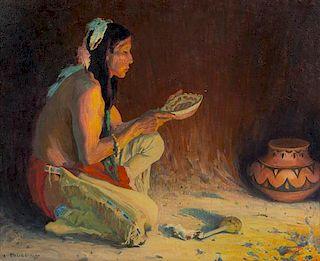 Eanger Irving Couse, (American, 1866-1936), Sacred Rain Bowl