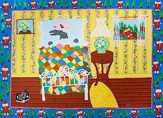 Harry Fonseca, (American, 1946-2006), Little Red Riding Hood