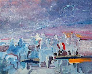 Earl Biss, (American,1947-1998), Sunrise Morning People