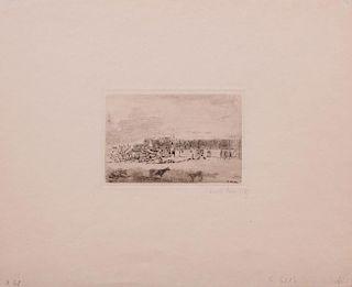 JAMES ENSOR (1860-1949): SQUELETTES VOULANT SE CHAUFFER