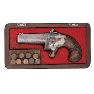 Cased National Arms No. 2 Derringer Attributed to Gen. W.S. Hancock