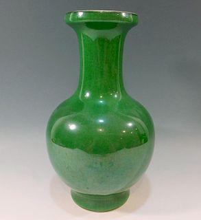 CHINESE ANTIQUE GREEN GE GLAZE PORCELAIN VASE - 18TH CENTURY