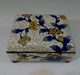 CHINESE ANTIQUE CLOISONNE BOX - 19TH CENTURY