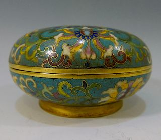 CHINESE ANTIQUE CLOISONNE BOX - QIANLONG MARK AND PERIOD
